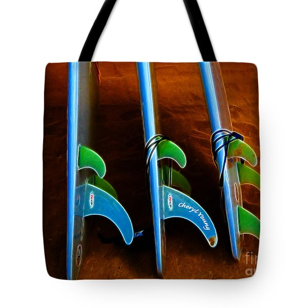 Fins Tote Bag by Cheryl Young