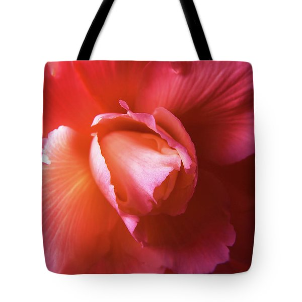 Fire And Ice Floral Begonia Tote Bag by Jennie Marie Schell