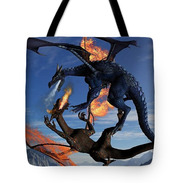 Fire And Ice Tote Bag by Todd and candice Dailey