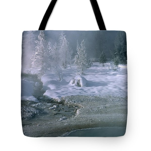 Fire And Ice - Yellowstone National Park Tote Bag by Sandra Bronstein