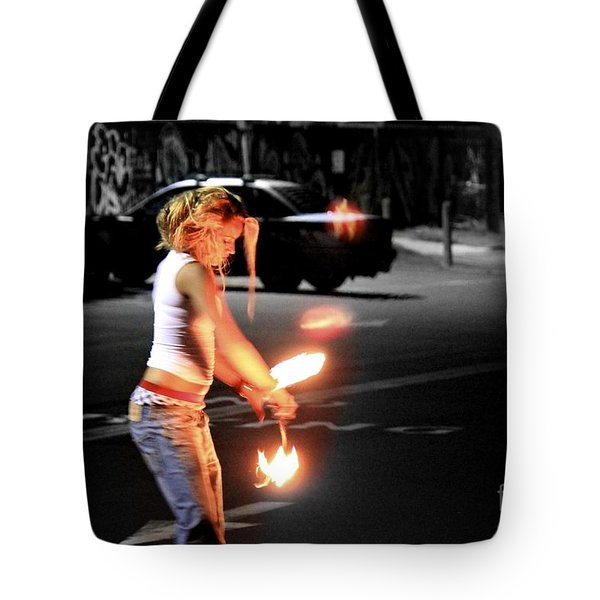 Fire Dance Tote Bag by Alanna DPhoto