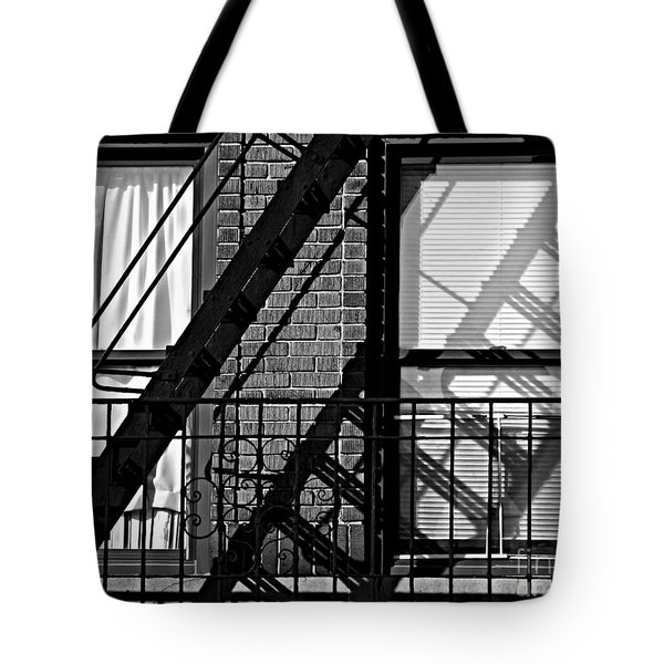 Fire Escape Tote Bag by James Aiken