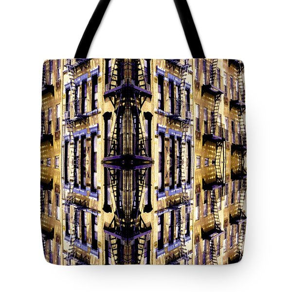 Fire Escapes - New York City Tote Bag by Linda  Parker