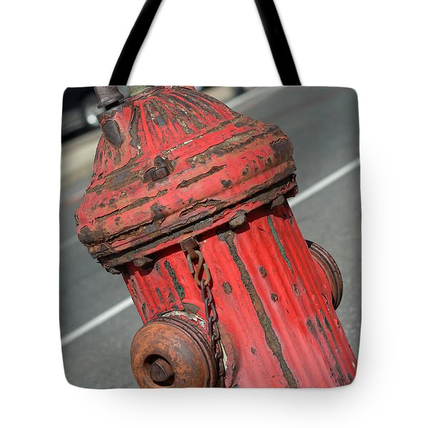Fire Hydrant Tote Bag by Lisa  Phillips