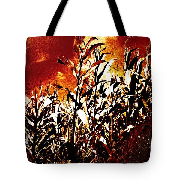Fire In The Corn Field Tote Bag by Gaspar Avila