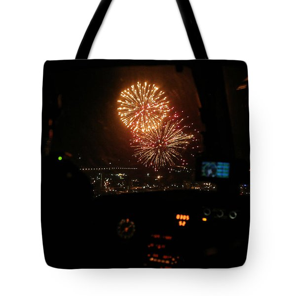 Fire In The Sky Tote Bag by Paul Job