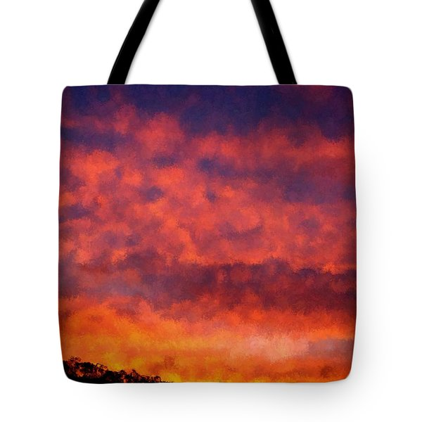 Fire On The Hillside Tote Bag by Bruce Nutting