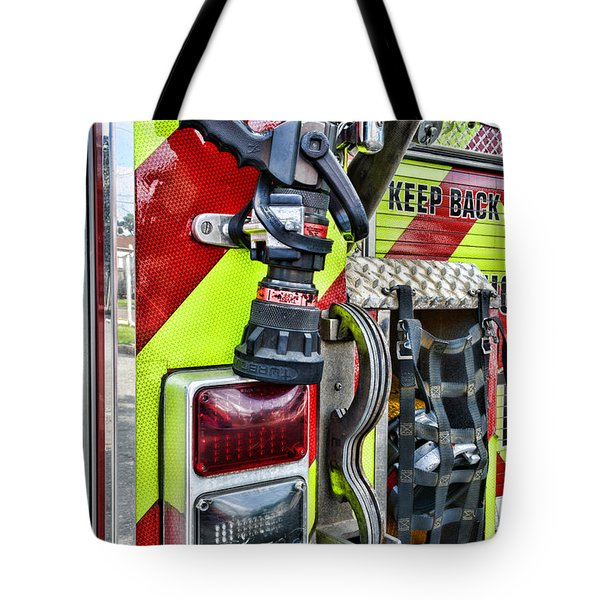 Fire Truck - Keep Back 300 Feet Tote Bag by Paul Ward