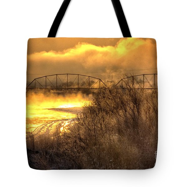 Fire Water Tote Bag by Bob Hislop