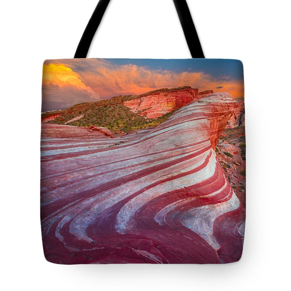 Fire Wave Tote Bag by Inge Johnsson
