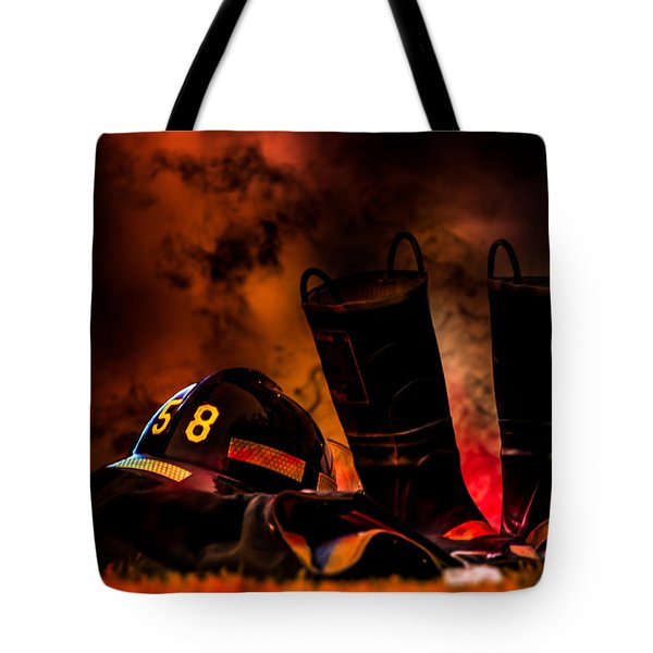 Firefighter Tote Bag by Bob Orsillo