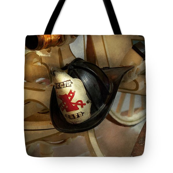 Firefighter - Somewhere to hang hat  Tote Bag by Mike Savad