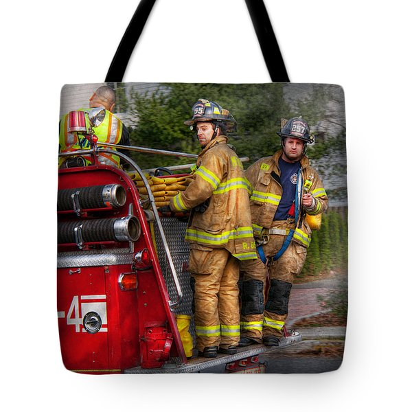 Firefighting - Only you can prevent fires Tote Bag by Mike Savad