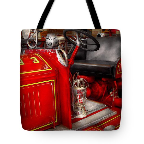 Fireman - Fire Engine No 3 Tote Bag by Mike Savad