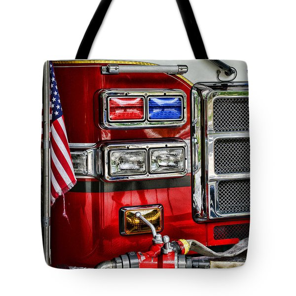 Fireman - Fire Engine Tote Bag by Paul Ward