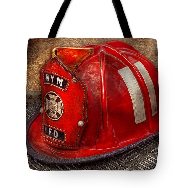 Fireman - Hat - A childhood dream Tote Bag by Mike Savad