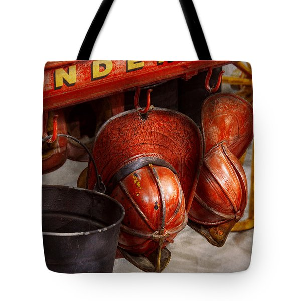 Fireman - Hats - I Volunteered For This  Tote Bag by Mike Savad