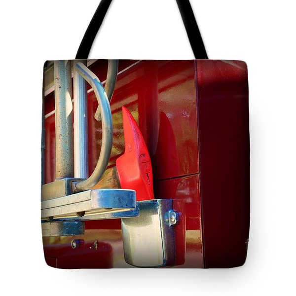Fireman Hook and Ladder Tote Bag by Paul Ward