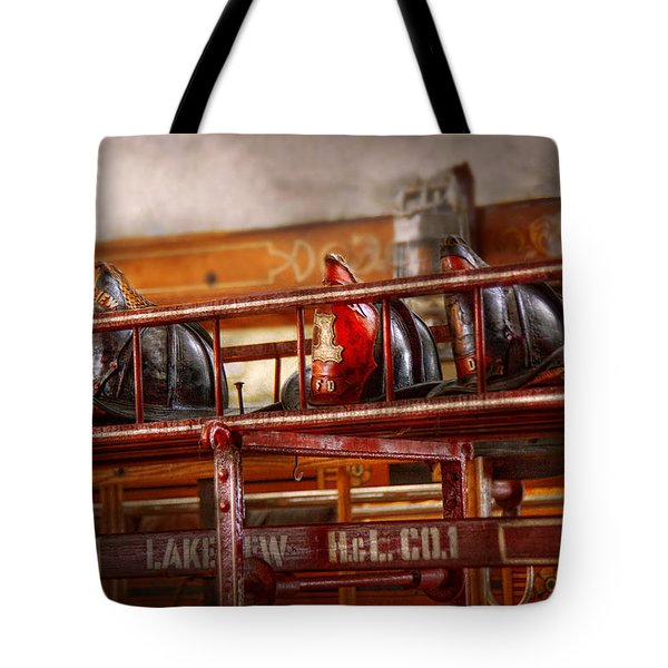 Fireman - Ladder Company 1 Tote Bag by Mike Savad