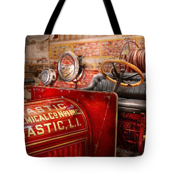 Fireman - Mastic chemical co Tote Bag by Mike Savad