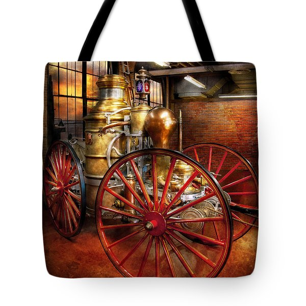 Fireman - One day a long time ago  Tote Bag by Mike Savad