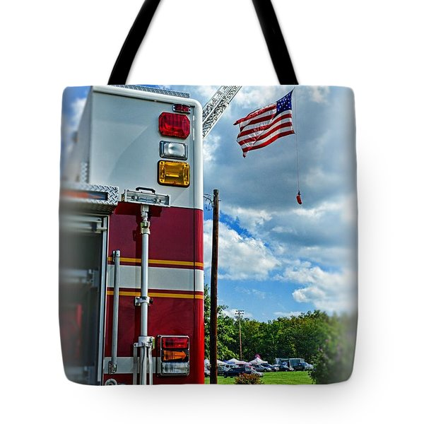 Fireman - Proudly They Serve Tote Bag by Paul Ward