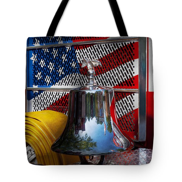 Fireman - Red Hot  Tote Bag by Mike Savad