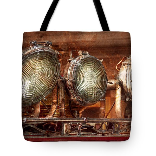 Fireman - Search Lights  Tote Bag by Mike Savad