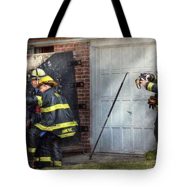 Fireman - Take All Fires Seriously  Tote Bag by Mike Savad