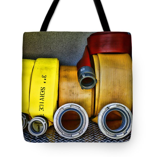 Fireman - The Fire Hose Tote Bag by Paul Ward