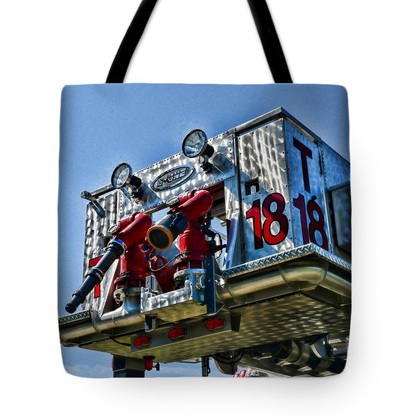 Fireman - The Fireman's Ladder Tote Bag by Paul Ward