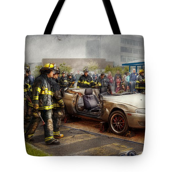 Firemen - The Fire Demonstration Tote Bag by Mike Savad