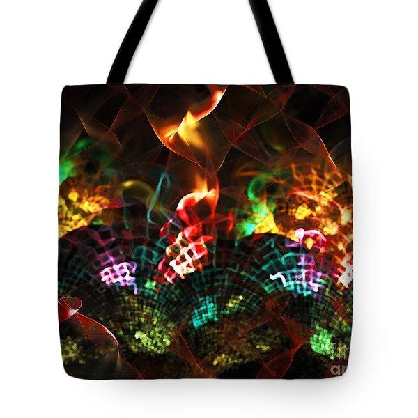 Fireplace Tote Bag by Klara Acel