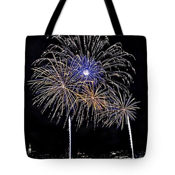 Firewoks Tote Bag by Susan Candelario
