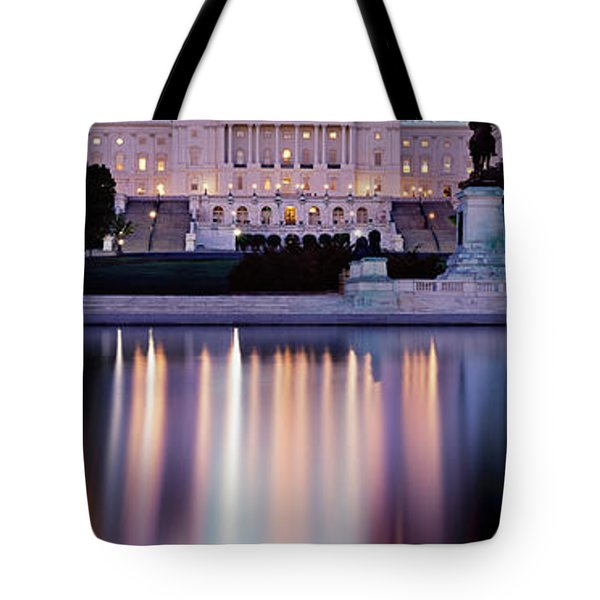 Firework Display Over A Government Tote Bag by Panoramic Images