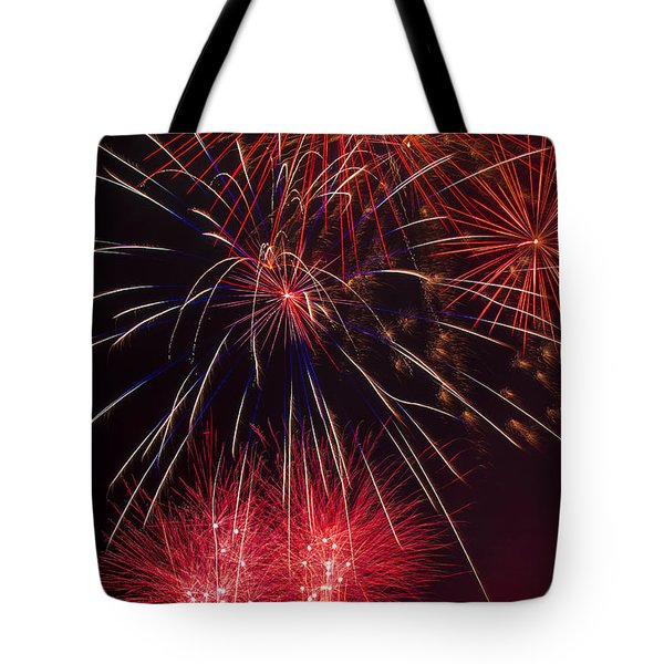 Firework Majesty  Tote Bag by Garry Gay