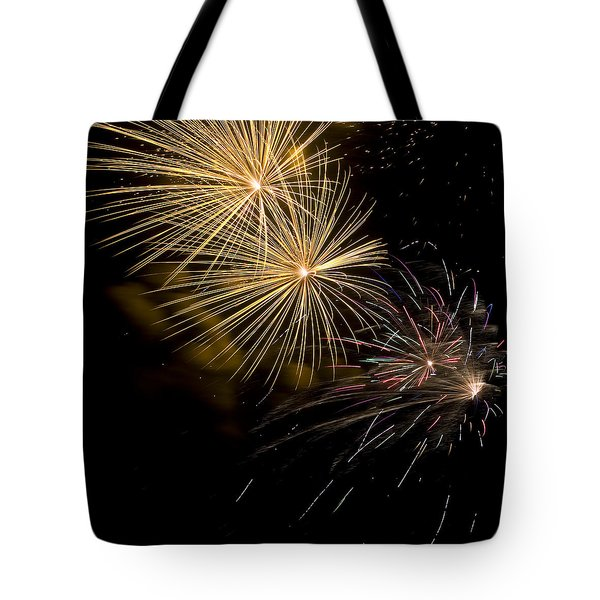 Fireworks 20 Tote Bag by Sandy Swanson