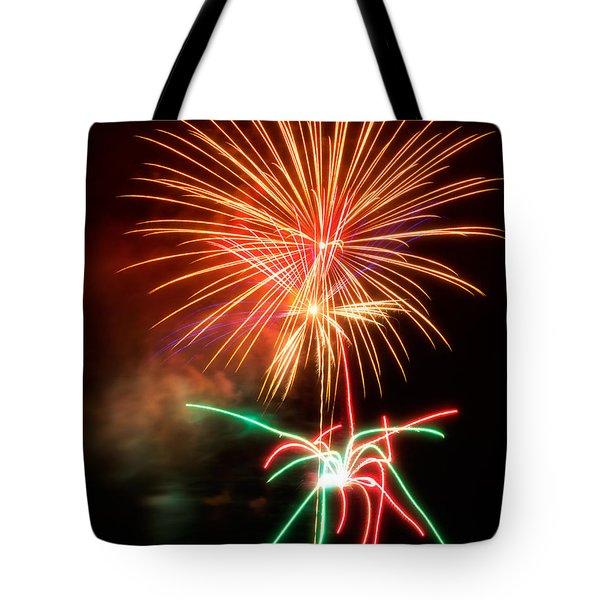 Fireworks 2011 Series 4 Tote Bag by Chris Tobias