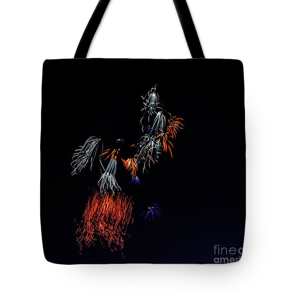 Fireworks Abstract Tote Bag by Robert Bales