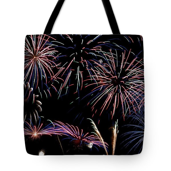 Fireworks Extravaganza 2 Tote Bag by Steve Purnell