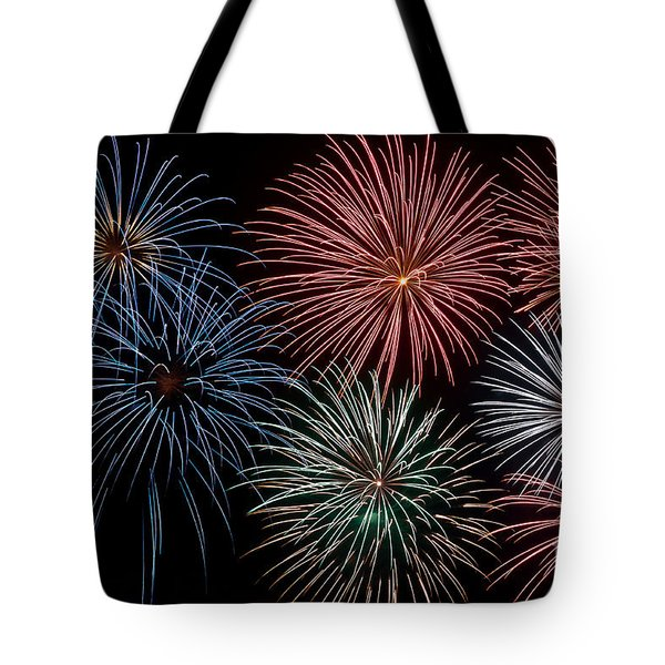 Fireworks Extravaganza 4 Tote Bag by Steve Purnell