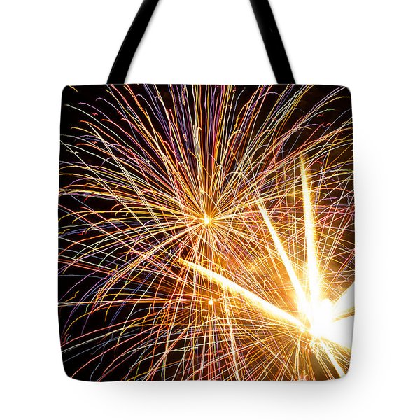 Fireworks Tote Bag by Lori Seebeck