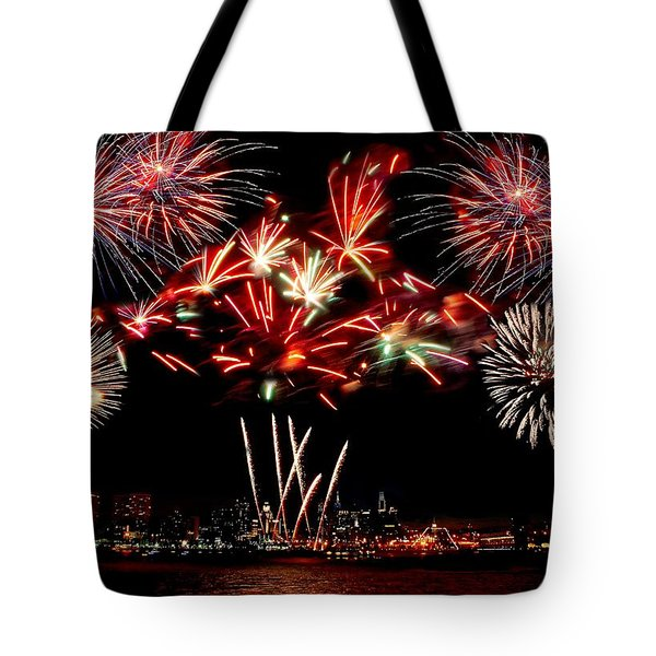 Fireworks over the Delaware Tote Bag by Nick Zelinsky