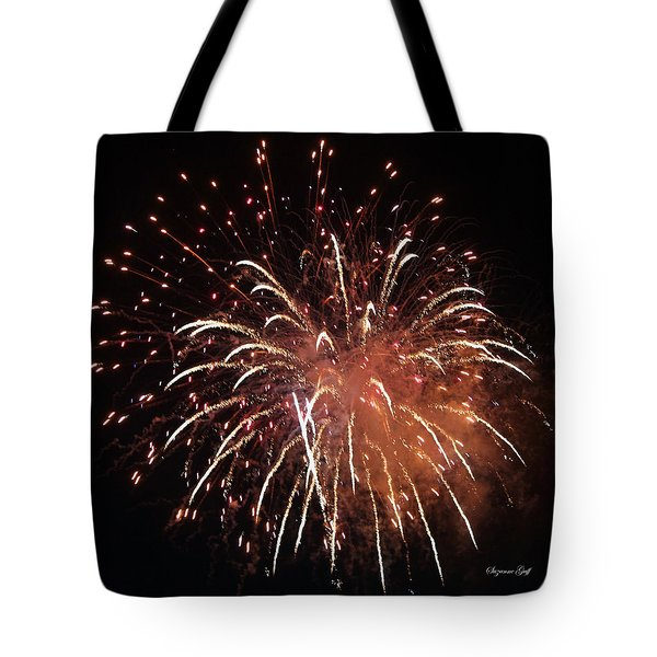 Fireworks Series Xv Tote Bag by Suzanne Gaff