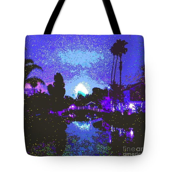 Fireworks Venice California Tote Bag by Jerome Stumphauzer