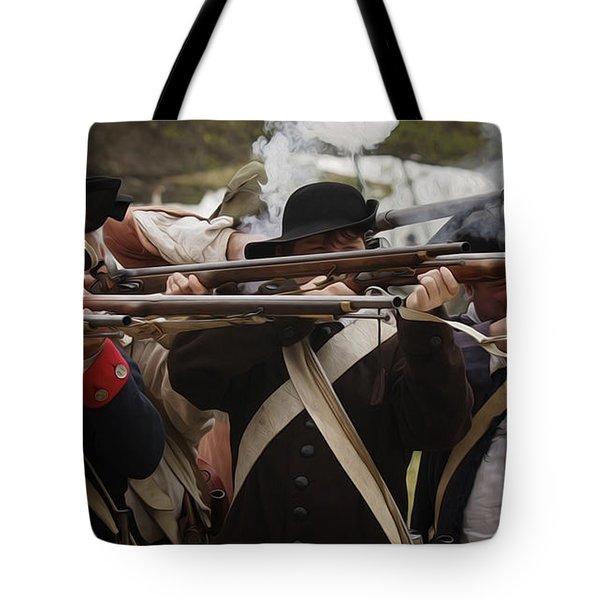 Firing Line Revolutionaries Tote Bag by Mark Miller