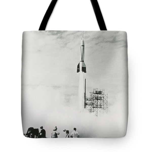 First Cape Canaveral Rocket Launch Tote Bag by NASA Science Source