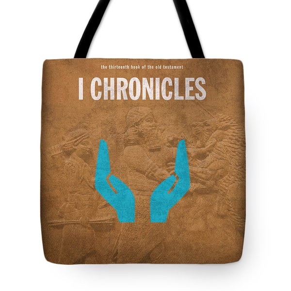 First Chronicles Books Of The Bible Series Old Testament Minimal Poster Art Number 13 Tote Bag by Design Turnpike