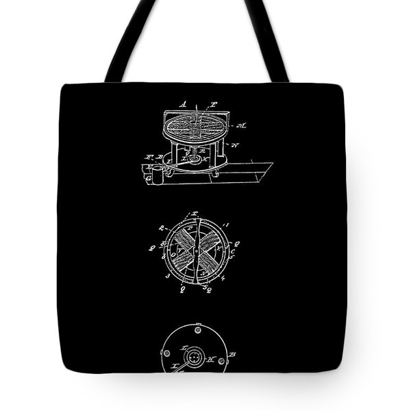 FIRST ELECTRIC MOTOR 2 PATENT ART 1837 Tote Bag by Daniel Hagerman
