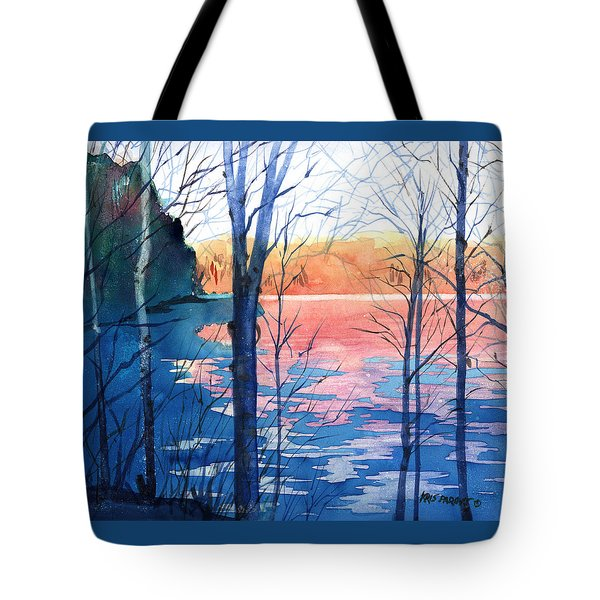 First Ice Tote Bag by Kris Parins